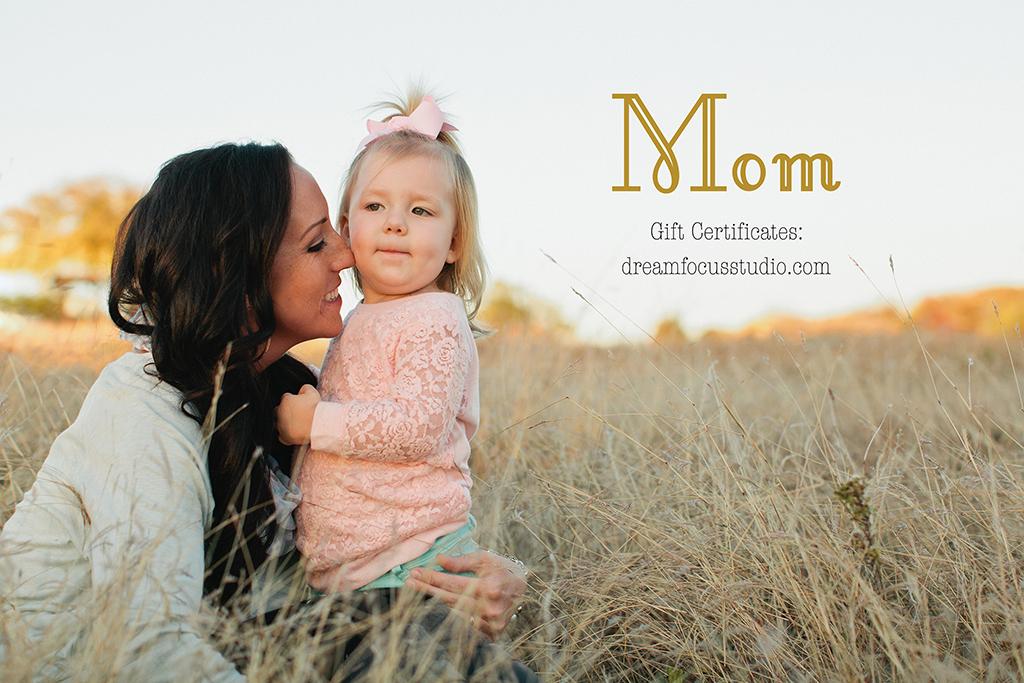 mother's day gift certificate dallas texas portrait photographer studio