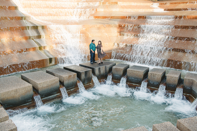 Gaby mando engagement session fort worth water gardens - Fort worth water gardens wedding ...