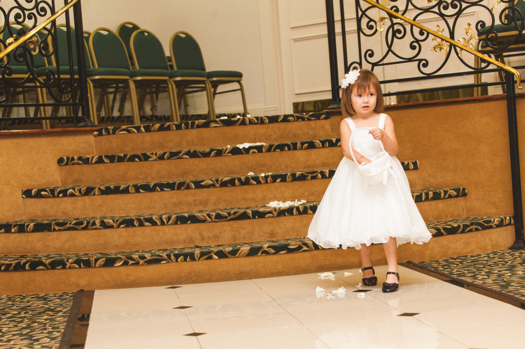 wedding dallas photographer mediterranean villa flower girl