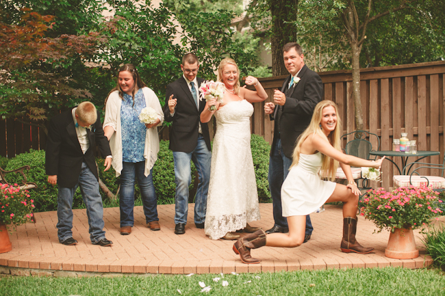 backyard texas wedding photography