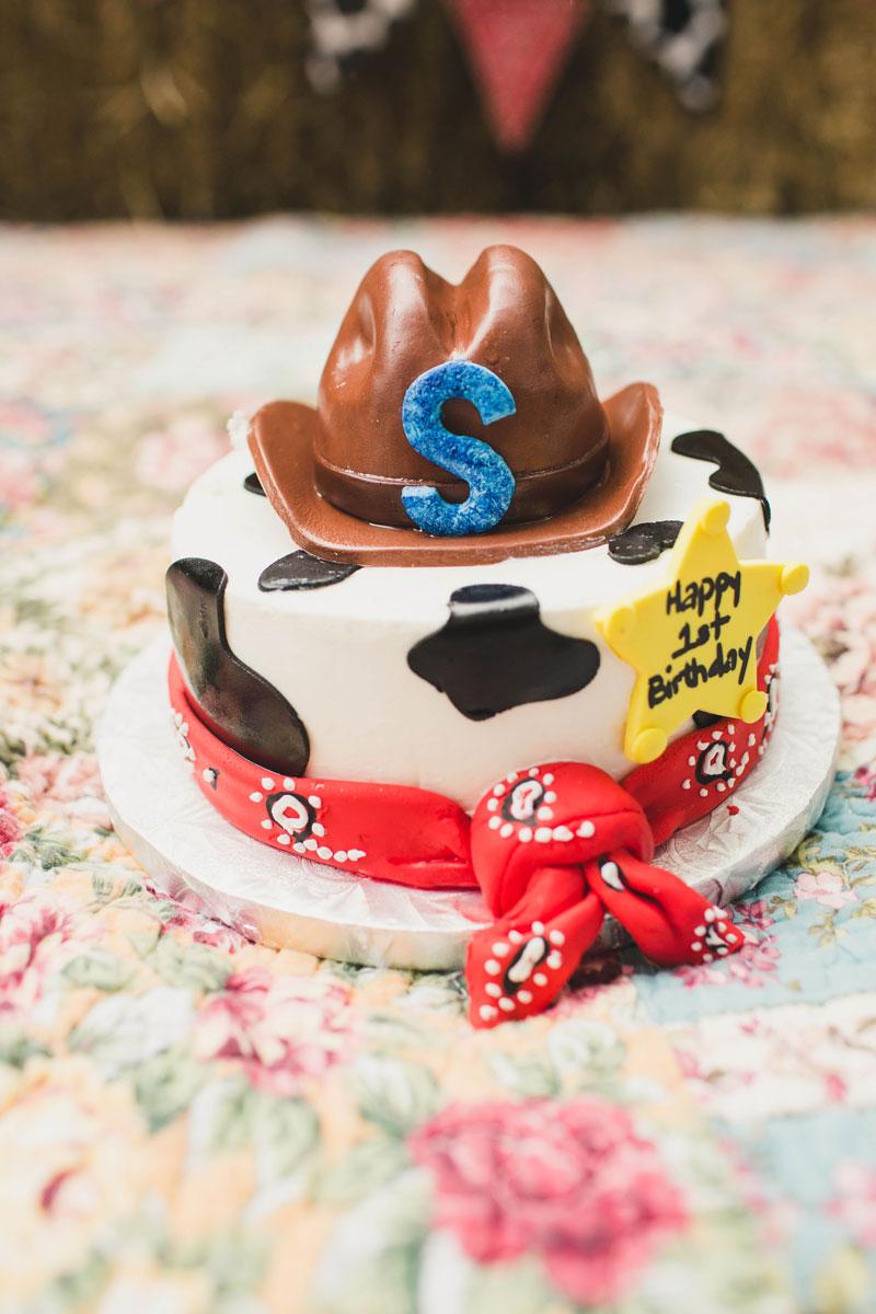 Sebastian Cowboy Cake Smash Birthday Party Dream Focus Studio