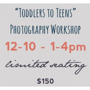 toddlers to teens workshop dream focus studio